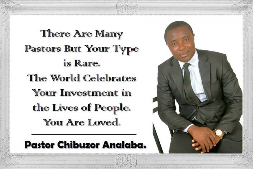 Face of Merriment: Pastor Chibuzor Analaba